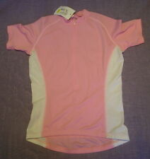 OUTEREDGE Short Sleeved Cycling Top Pink/White - Large Size
