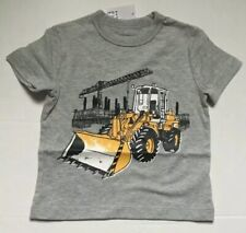 New Boys Baby Gap Gray Bull Dozer T Shirt 12-18 Months
