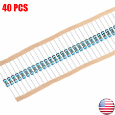1/4W .25 Watt 1% Tolerance Metal Film Resistor 40 Pieces USA SELLER