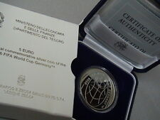 ITALIA 2006 moneta 5 EURO argento proof CAMPIONATO del MONDO di CALCIO Germania