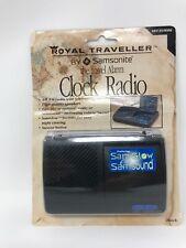 Vintage Royal Traveller The Travel Alarm Clock Radio RT-8100BK By Samsonite NIP