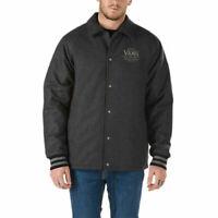 Vans (Torrey Varsity) Coaches Jacket Charcoal Gray Grey Mens Sizes S M L XL NEW