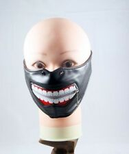 New Adult Unisex Men Gift Black Big Smile Teeth Half Face Mask Rave Goth  Zipper
