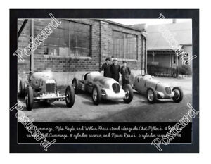 Historic Bill Cummings, Mike Boyle, and Wilbur Shaw Indy Postcard