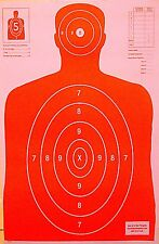 Paper Shooting Targets Orange Silhouette Gun Pistol Rifle B-27 Qty:25 23x35