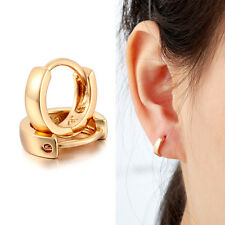 Kids Children Girl Gold Filled Huggie Hoop Earrings Small Jewelry 10mm All Ages