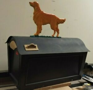 GOLDEN RETRIEVER  Mailbox topper/ornament,.Solid STURDY CAST aluminum AS SHOWN.