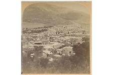 ANCIENT SHECHEM   MT. EBAL PALESTINE VINTAGE STEREOVIEW BY UNDERWOOD