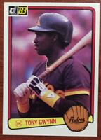 1983 Donruss #598 TONY GWYNN (Padres) RC (Rookie Card)