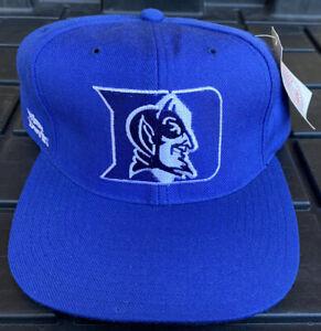 NWT Vintage 90s Duke Blue Devils American Needle Blockhead SnapBack Hat Cap