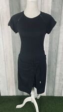Scotch & Soda Black 100% Cotton Wrap Tie T-Shirt Shift Dress Size 1 UK 8/10