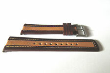 NEXT TWO TONE GENUINE LEATHER 22MM WATCH STRAP BAND  SILVER TONE BUCKLE