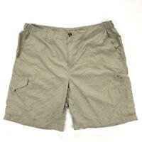 Columbia Silver Ridge Cargo Shorts Mens 40 Gray Nylon Hiking Camping