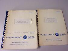 Vintage 2 way  Radio Telephone FISHER PIERCE Installation Service Manual s