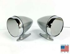 Pair Premium Bullet Style Silver Side Mirrors For 1965-1968 Ford Mustang/Shelby