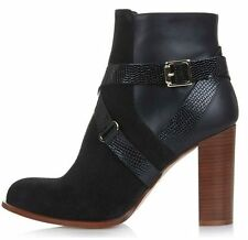 Topshop Zip Ankle 100% Leather Upper Shoes for Women