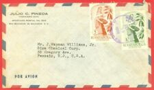 Salvador Topic COFFEE / CAFE 2 diff stamp used on cover to USA