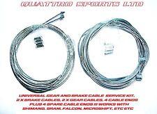 2 MTB GEAR & 2 MTB BRAKE INNER CABLES + CRIMPS MTB, SHIMANO, PROMAX  ETC