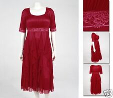 NEW! Zaftique GALA DRESS Garnet Red (Last One!) 0Z / Womens Plus 14 / Large L