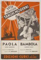 1938 BRACCHI ANSALDO PAOLA BAMBOLA GIULIANI SPARTITI