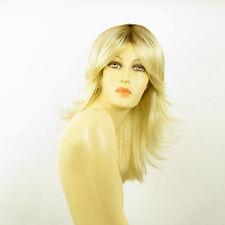 Perruque femme mi-longue méchée blond racine blond foncé ZOE YS