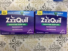 New Zzzquil Nighttime Sleep-aid 2 Boxes of 48 Count Each =96 LiquiCaps Exp DEC18