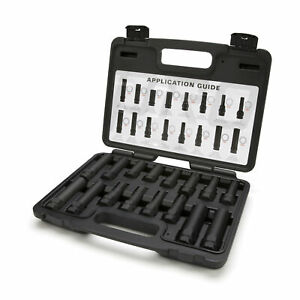 Steelman 16 Pc Locking Lug Nut Master Set Wheel Lock Key Removal Tool Kit 78537