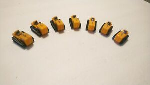 Tyco HO Train Lot of 7 Yellow Tractors For Flatcars/Layout/Scenery/Accessories