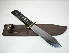 Big Vintage Collectible Decorative Handmade Survival Eagle Knife With Sheath 60s