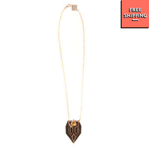 ANISHA PARMAR LONDON Geometric Pendant Necklace Rose Gold Plated HANDCRAFTED