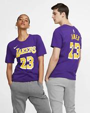 Nike Dri-FIT LeBron James Los Angeles Lakers Men's NBA T-Shirt L Purple Tee
