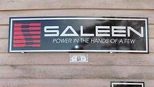 NEW! SALEEN MUSTANG EQUIPMENT DEALER 3 COLOR SIGN/SPEED PARTS/GARAGE ART