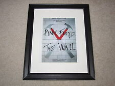 "Framed Pink Floyd The Wall Concert Mini Poster Nassau 2-27-1980, 14""x16.5"" RARE!"