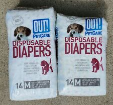 OUT! Pet Care Disposable Female Diapers 24 COUNT - MEDIUM 15-35 LBS  20-23 WAIST