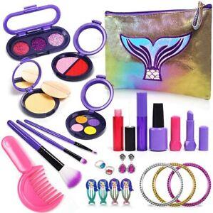 Mermaid Pretend Makeup Set for Girls Little Makeup Starter Set Cosmetic Bag  NIB