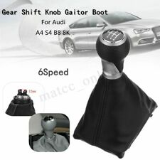 6 Speed Manual Gear Shift Knob Gaiter Boot For Audi A4 S4 B8 8K A5 S-Line