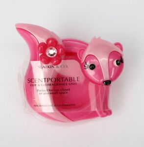 Bath & Body Works Pink Skunk Visor Clip Car Scent Fragrance Scentportable