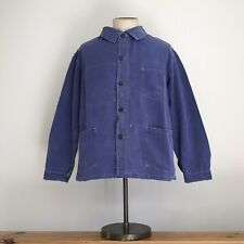 True Vintage 1950s French Blue Workwear Cotton Chore Worker Jacket L