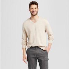 2f8445c8625f Goodfellow   Co. New Men s V-Neck Pullover Sweater Khaki Oatmeal heather  (XXL
