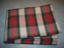 Farmhouse Country PLAID Tablecloth Primitive Red Pine Green Brown Antique Ivory