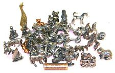 3 1/2 lbs Pewter Figurines Mostly Animals