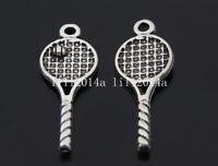 20pc Retro Tibetan Silver Tennis racket Charm Pendant accessories wholesalePL342