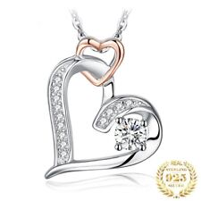 925 Sterling Silver Infinity Heart Pendant Necklace Without Chain Women Jewelry