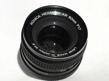 KONICA HEXANON AR 50mm f 1.7 prime lens SN7538336 (has fungus)