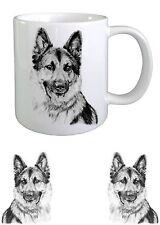 Alsatian/ German Shepherd Dog Sketch Ceramic Mug by paws2print