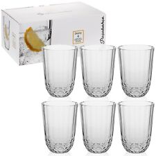 6x250ml Pasabahce Drinking Glasses Bar Tumblers Whiskey Traditional Cups 8.5oz