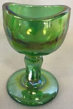 Eyebath Eyewash Eyecup Eye Rinse - John Bull - Green Carnival Glass - USA