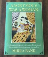 Anonymous Was a Woman by Mirra Bank (1979, Paperback) FREE SHIPPING