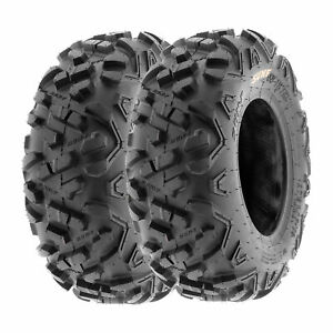 SunF 145/70-6 ATV Tires 145/70x6 All Terrain  6 PR A051 POWER II [Set of 2]