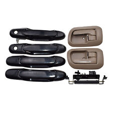 7Pcs Set For 98-03 Toyota Sienna Left Right Beige Inside Outside Door Handle Kit